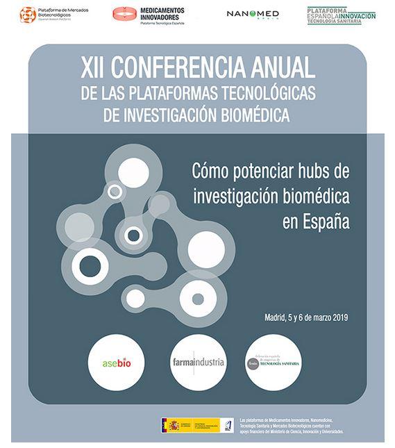 Nanomed Spain co-organiza un año más la Conferencia Anual de Plataformas de Investigación Biomédica