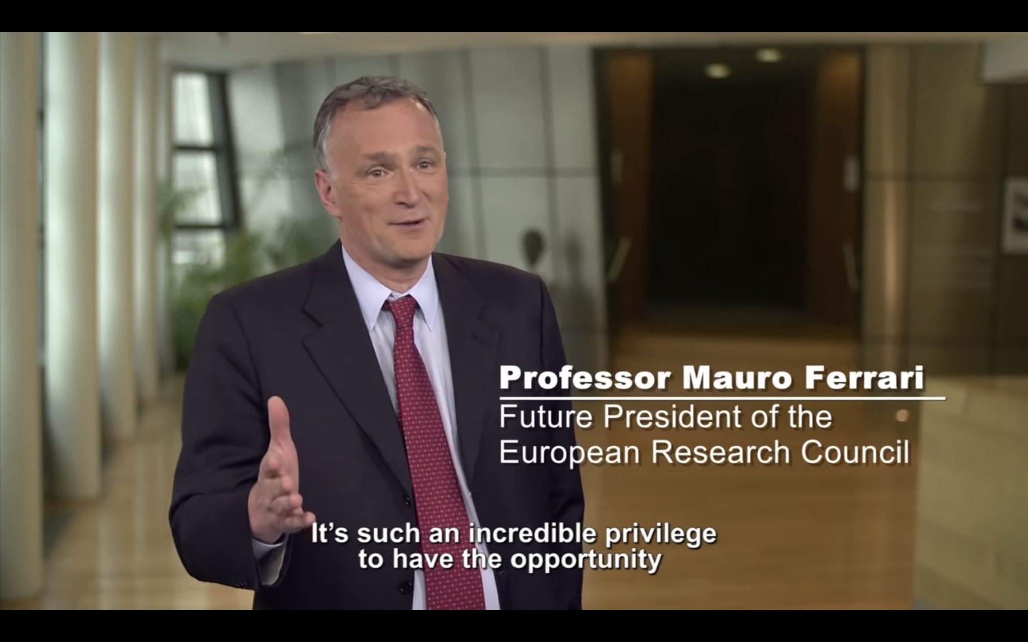 Mauro Ferrari, pionero en el campo de la nanomedicina, nombrado presidente del Consejo Europeo de Investigación