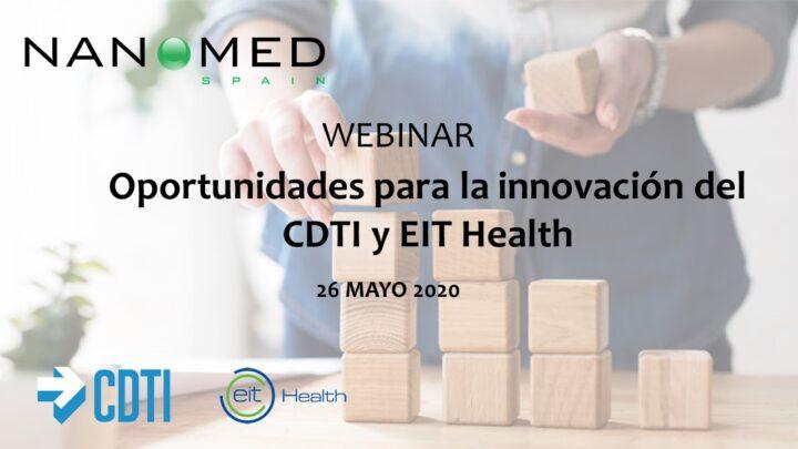 Jornada «Oportunidades para la innovación del CDTI y EIT Health»